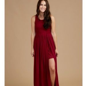 Altar'd State Light as Air Maxi Dress in Red XS